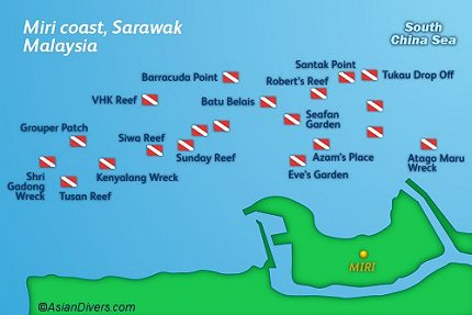 Miri Dive Sites